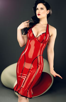 Sister Sinister in Candy Latex Dress by Inner Sanctum