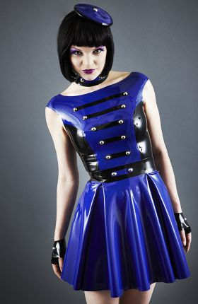 Onna Sakura in Latex Dress by Inner Sanctum