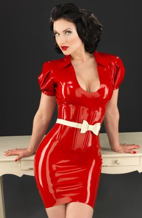 Sister Sinister in Vivienne Latex Dress by Inner Sanctum