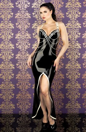 Sister Sinister in Diva Latex Gown by Inner Sanctum