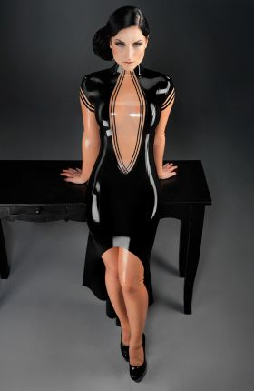 Sister Sinister wears Mina Latex Gown by Inner Sanctum Latex