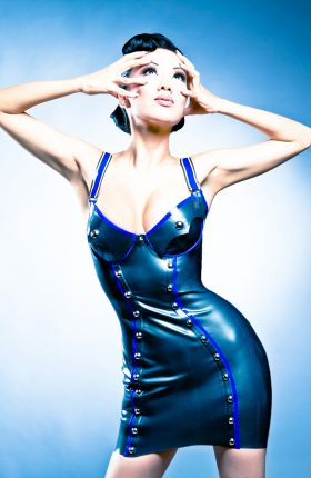 Jade Vixen in Latex Dress by Inner Sanctum