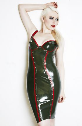 Latex Military Dress by Inner Sanctum