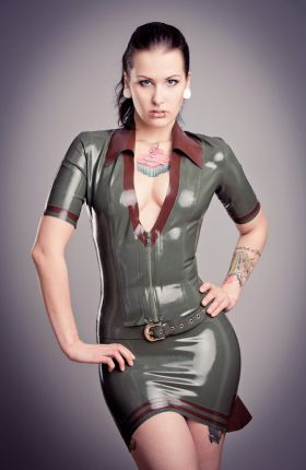 Latex Military Shirt by Inner Sanctum