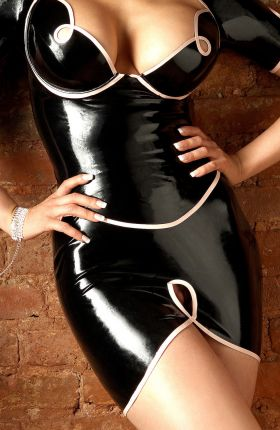 Bianca Beauchamp in Latex Skirt by Inner Sanctum