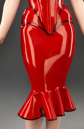 Latex Wiggle Skirt by Inner Sanctum