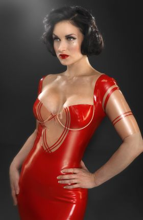 Sister Sinister in Annabelle Latex Bustier by Inner Sanctum